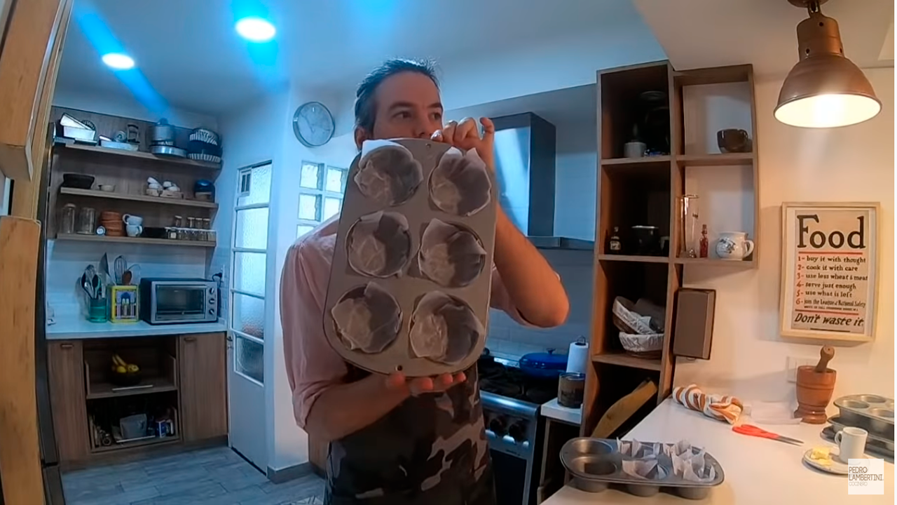 como hicimos el video de muffins almendrados de yogur y arandanos